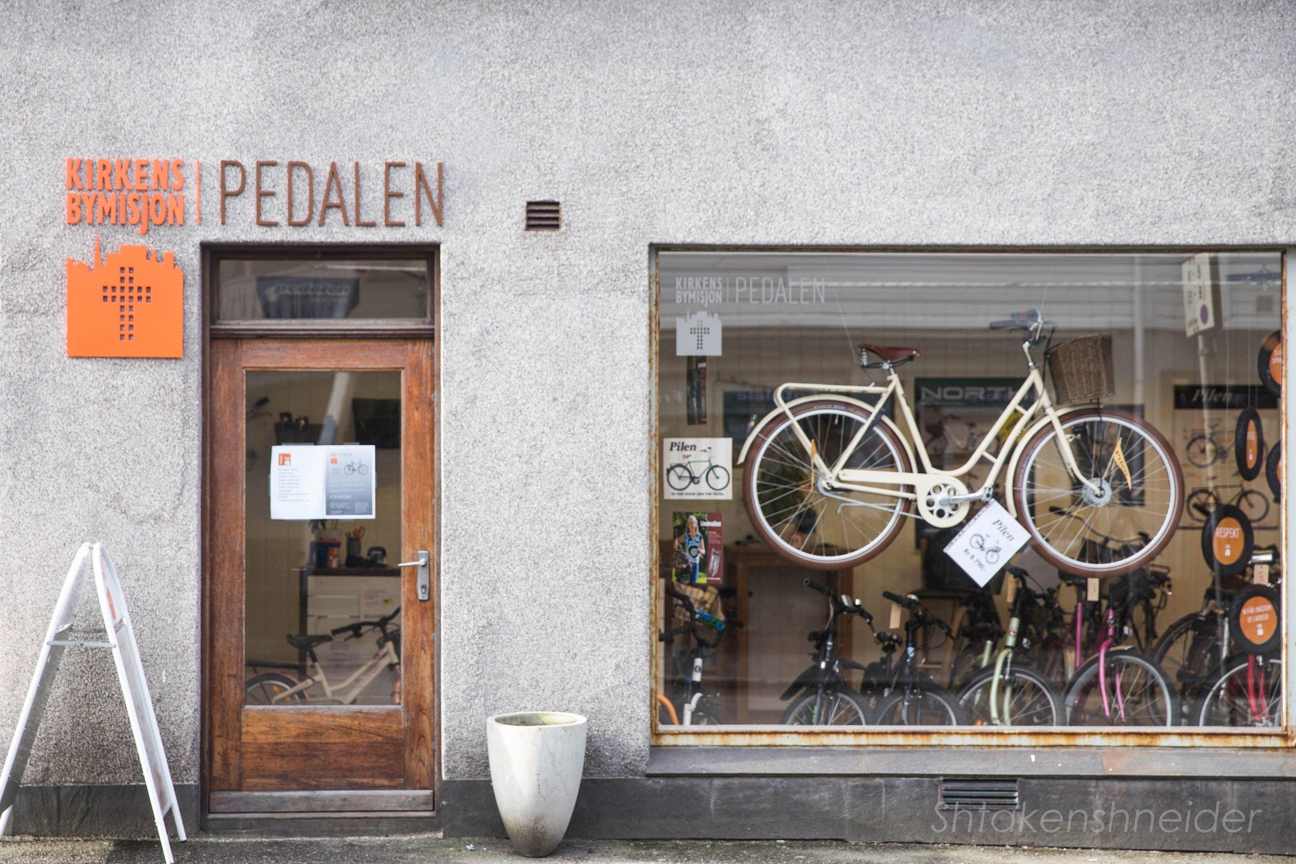 Хёугесунн, Норвегия. Велосипедный магазин.