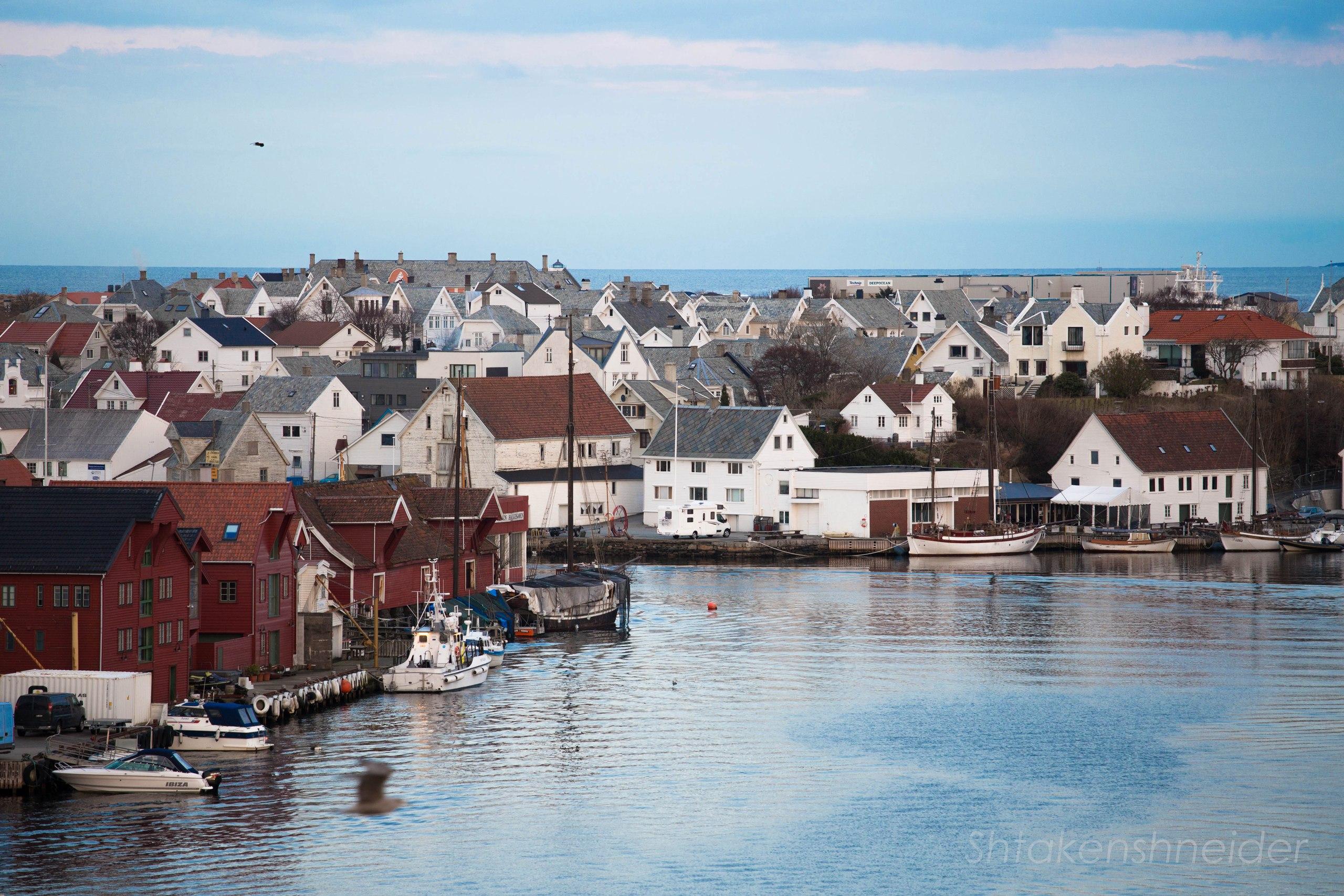 Хёугесунн, Норвегия. Вид на Море.