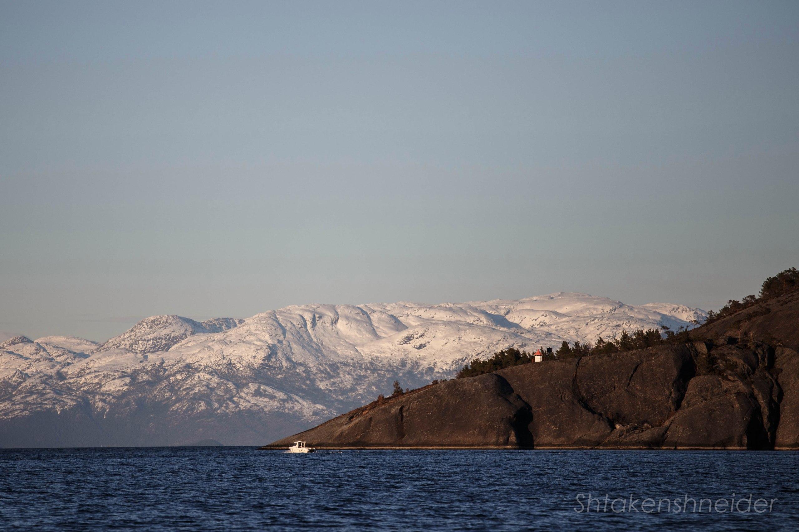 Фото ледника Фолгефонна из марины Хюснеса