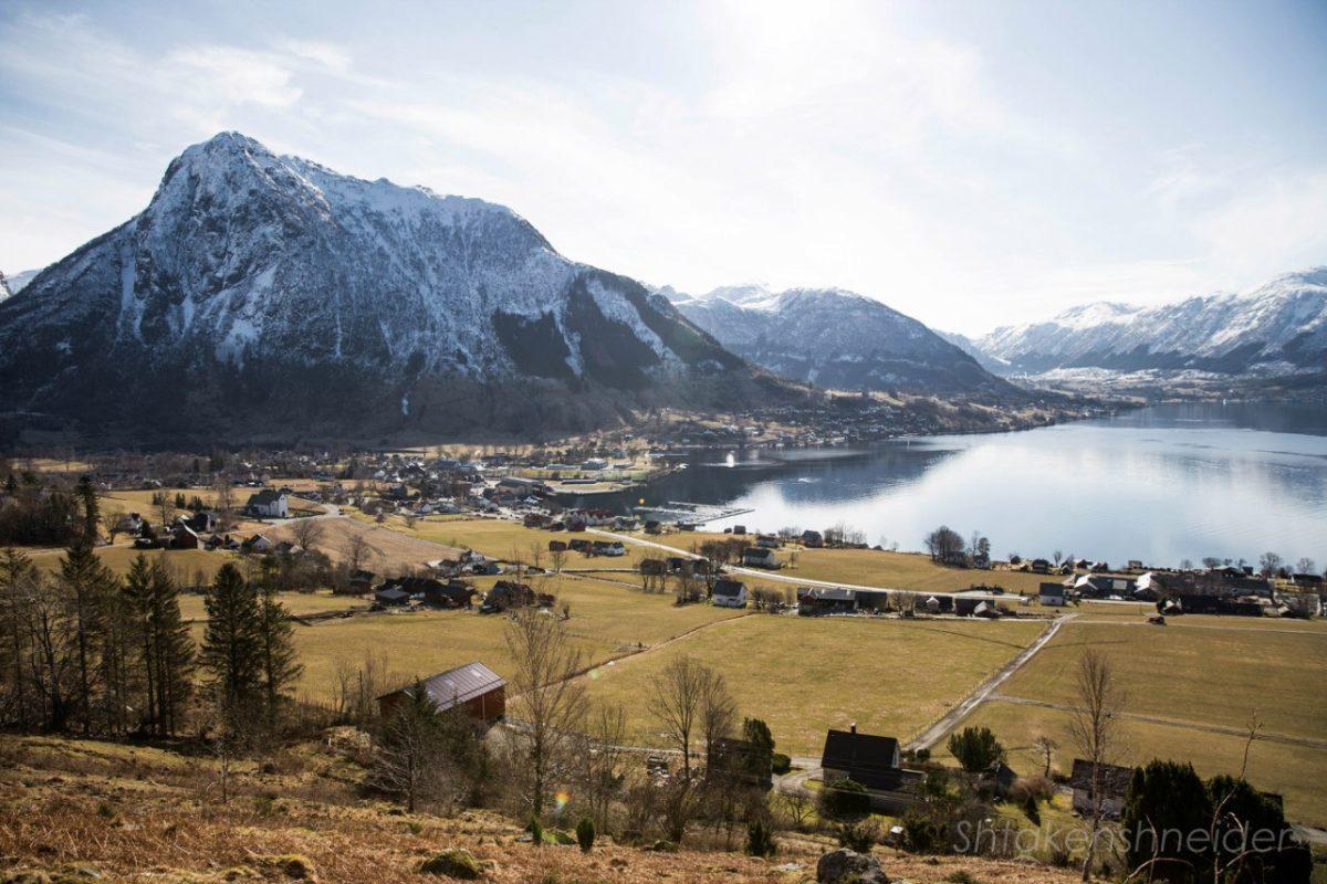 Вид на марину Русендаля, Норвегия