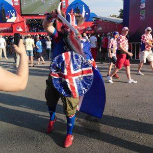 Исландский болельщик на FIFA Fan Fest
