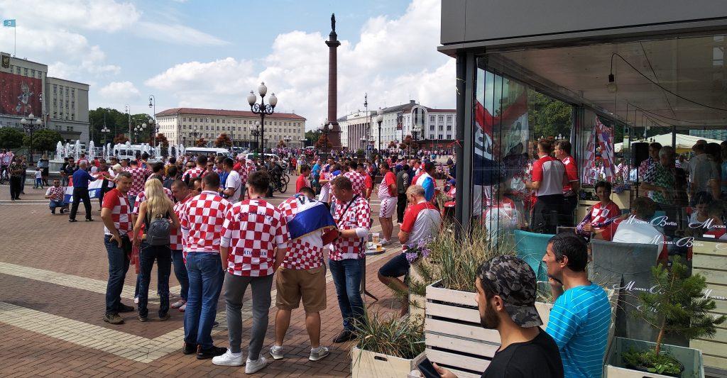 Хорватские болельщики в Калининграде